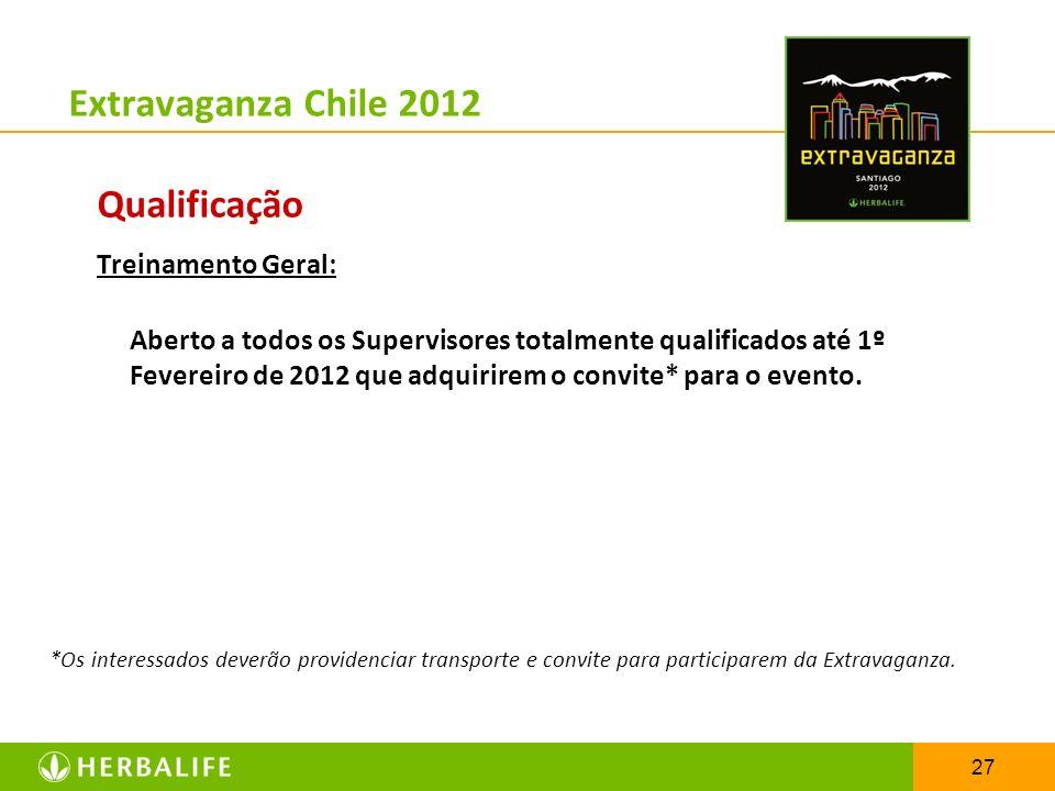 Extravaganza Chile 2012 Qualificação Treinamento Geral: