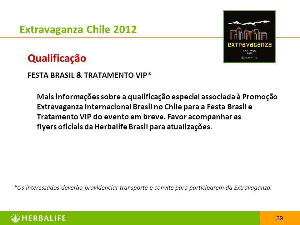 Extravaganza Chile 2012 Qualificação FESTA BRASIL & TRATAMENTO VIP*