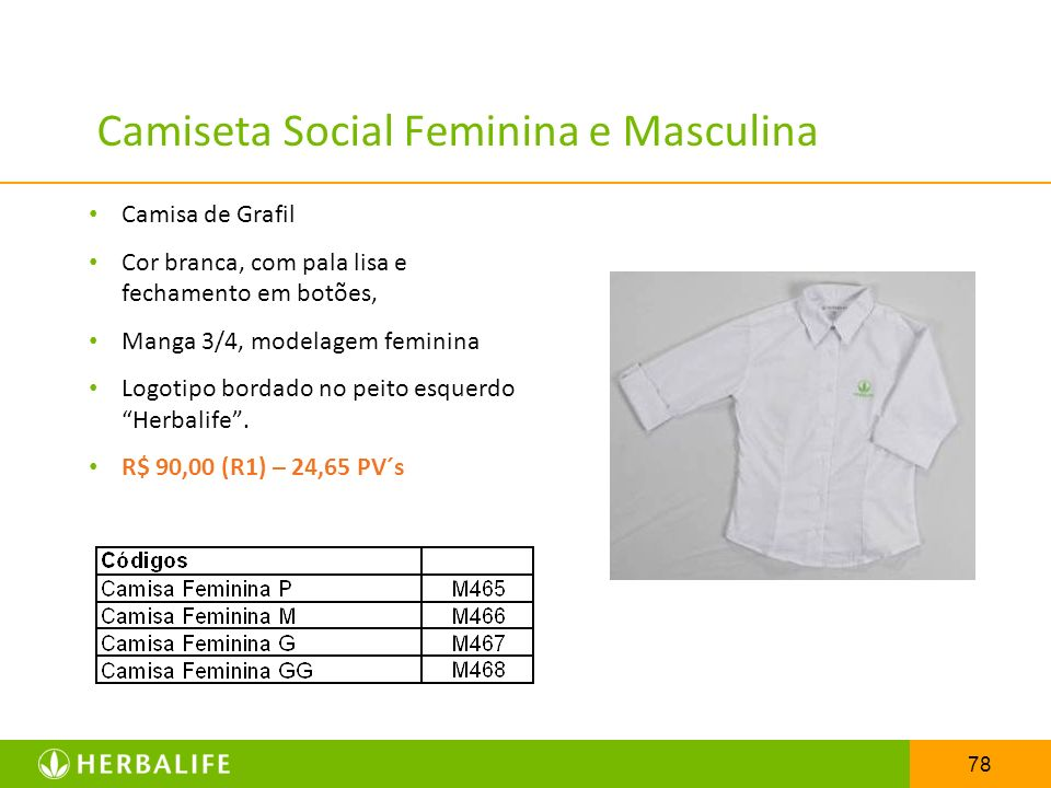 Camiseta Social Feminina e Masculina