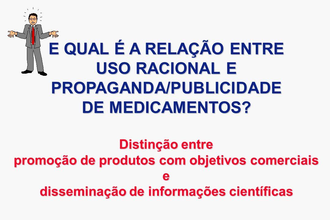 PROPAGANDA/PUBLICIDADE DE MEDICAMENTOS