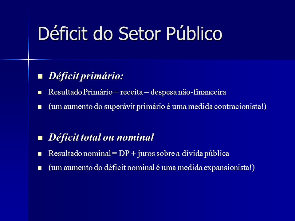Déficit do Setor Público
