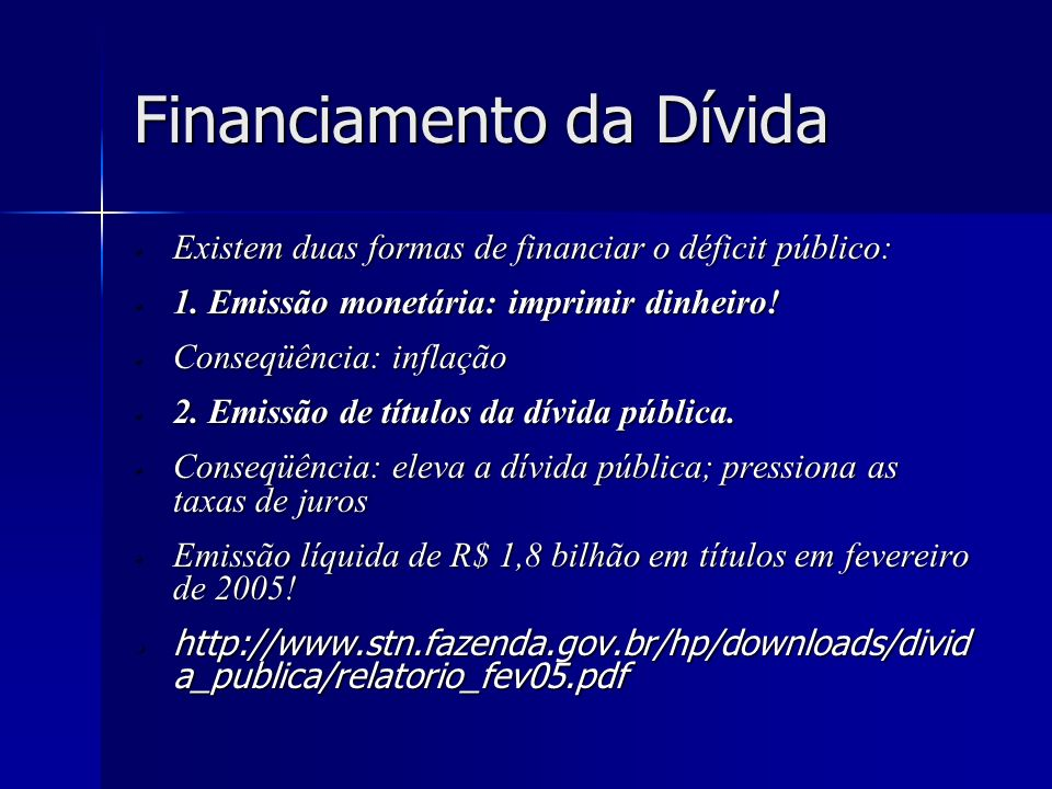 Financiamento da Dívida