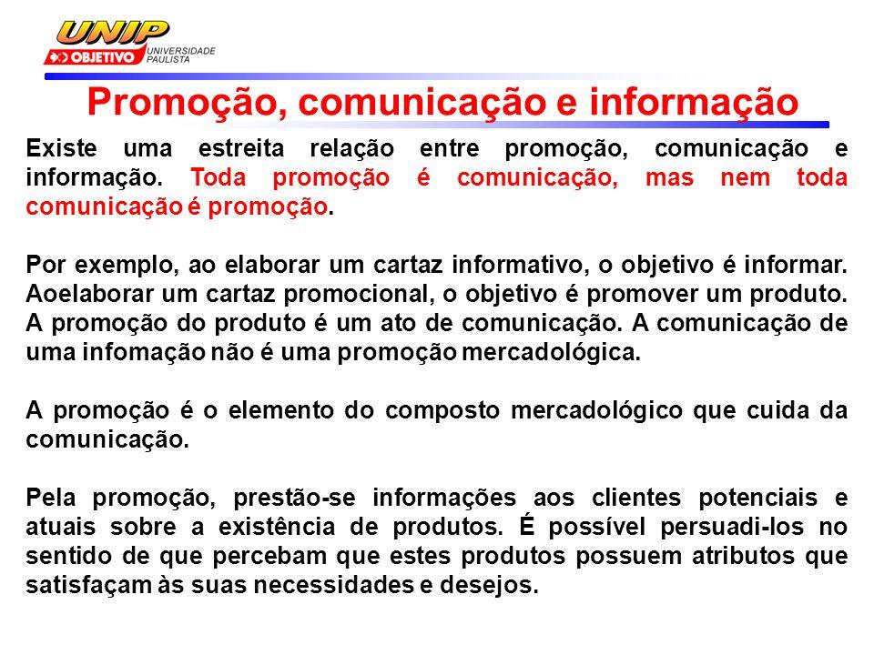 Promoção, comunicação e informação