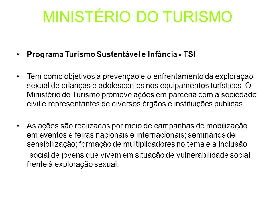 MINISTÉRIO DO TURISMO Programa Turismo Sustentável e Infância - TSI