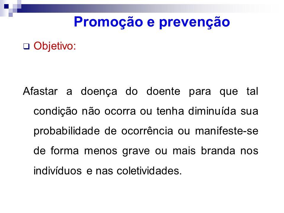 Promoção e prevenção Objetivo: