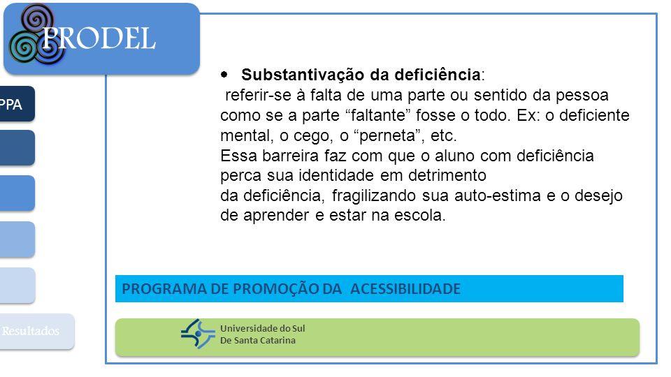 PRODEL Substantivação da deficiência: