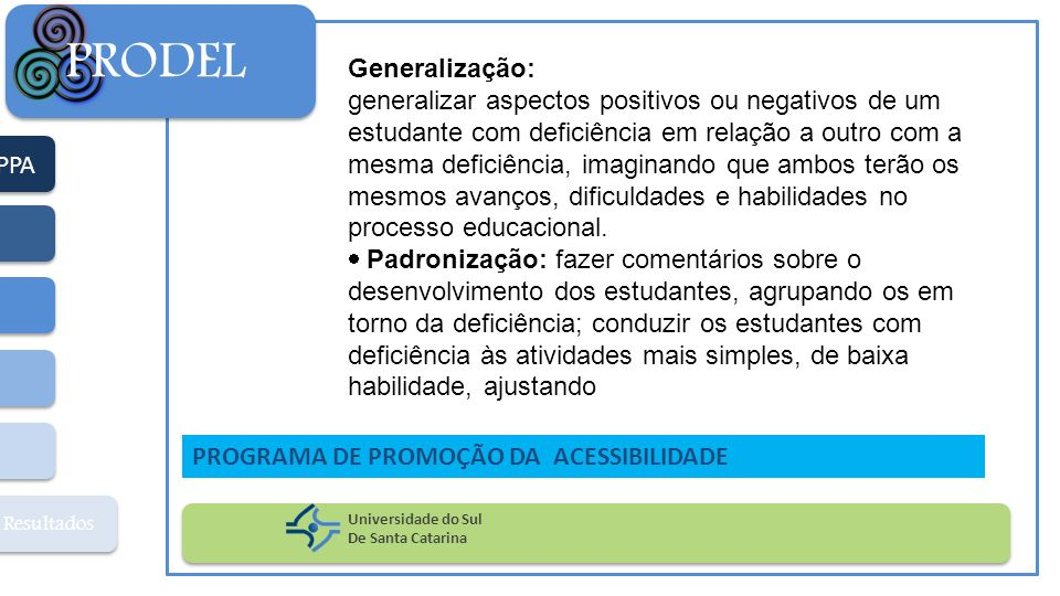 PRODEL Generalização: