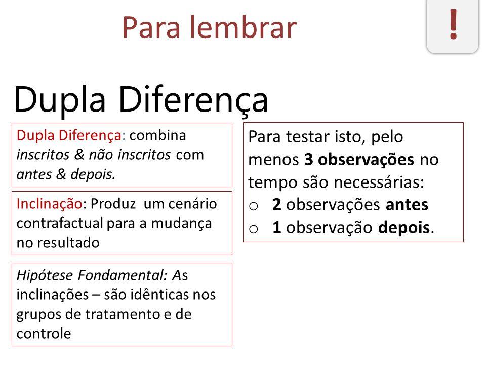 ! Dupla Diferença Para lembrar