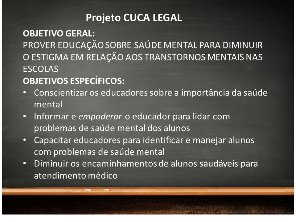 Projeto CUCA LEGAL OBJETIVO GERAL: