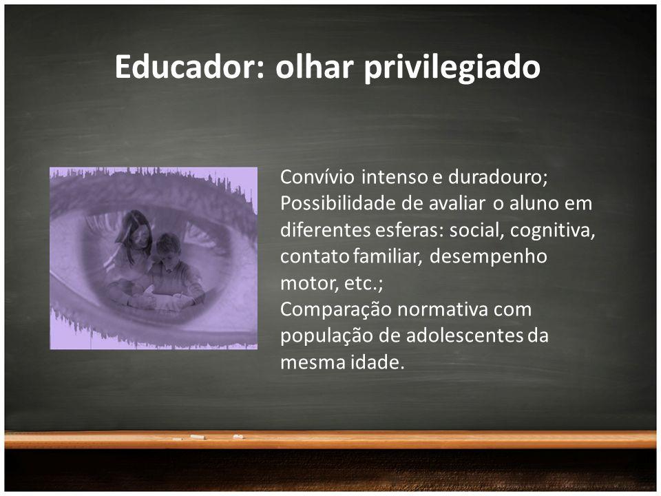 Educador: olhar privilegiado