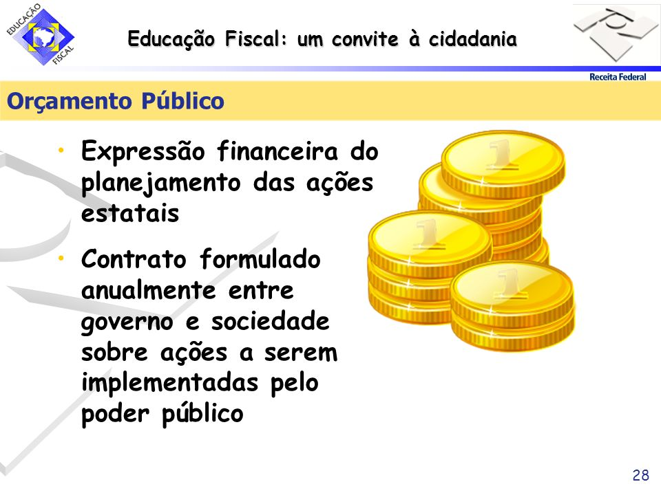 Expressão financeira do planejamento das ações estatais
