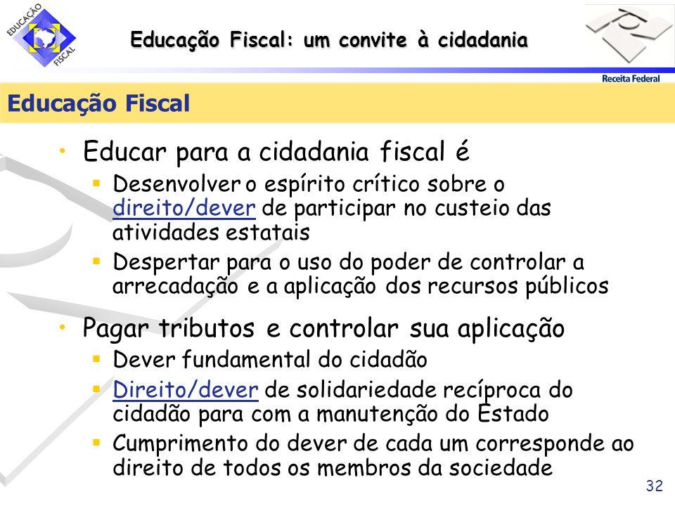 Educar para a cidadania fiscal é