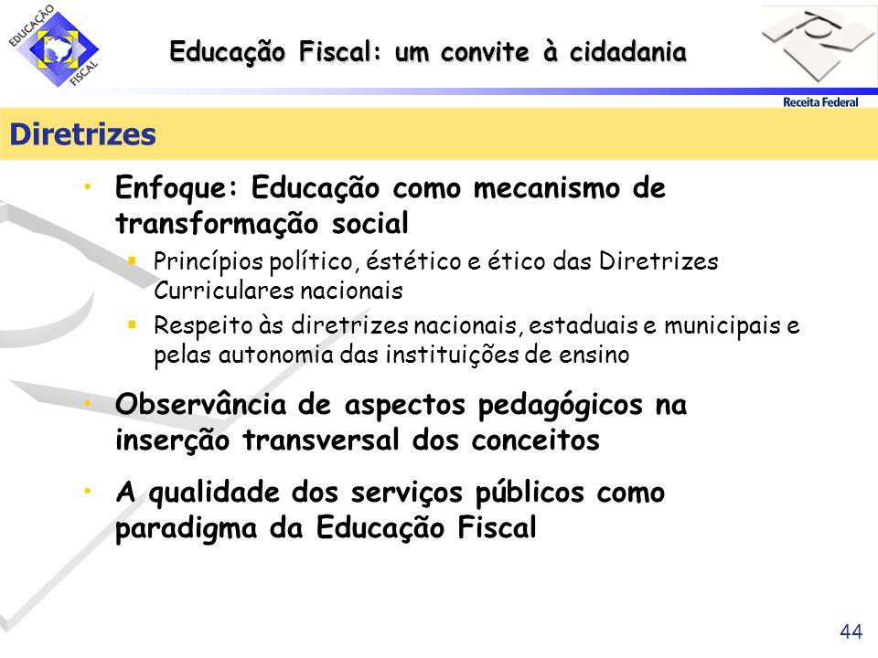 Diretrizes Enfoque: Educação como mecanismo de transformação social