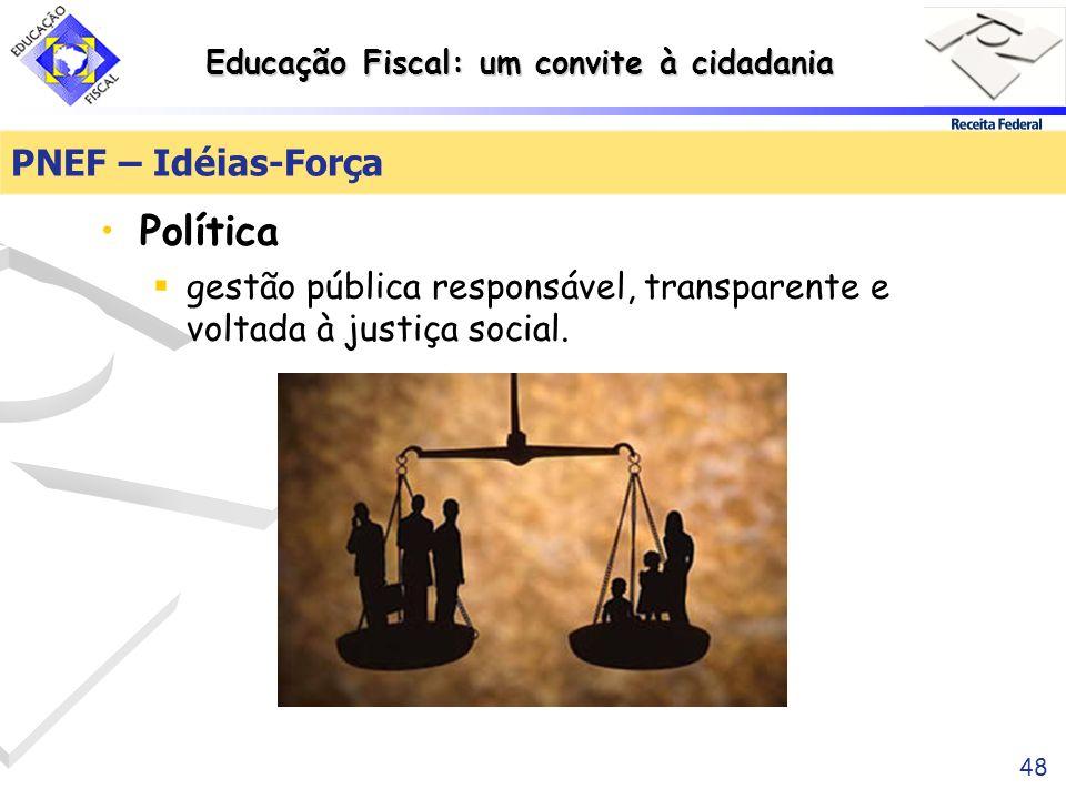 Política PNEF – Idéias-Força