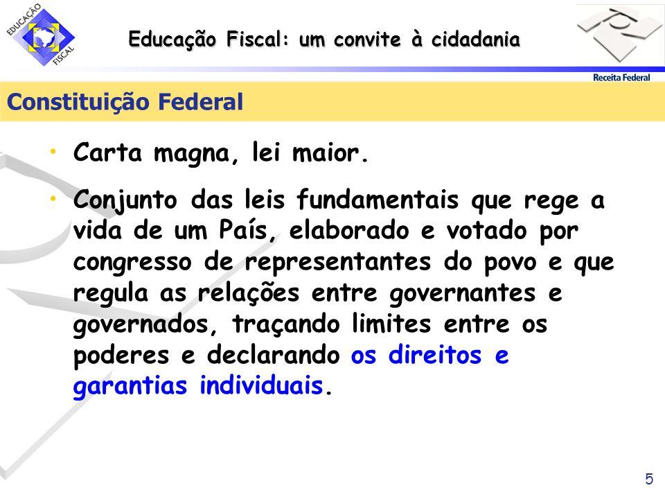 Constituição Federal Carta magna, lei maior.