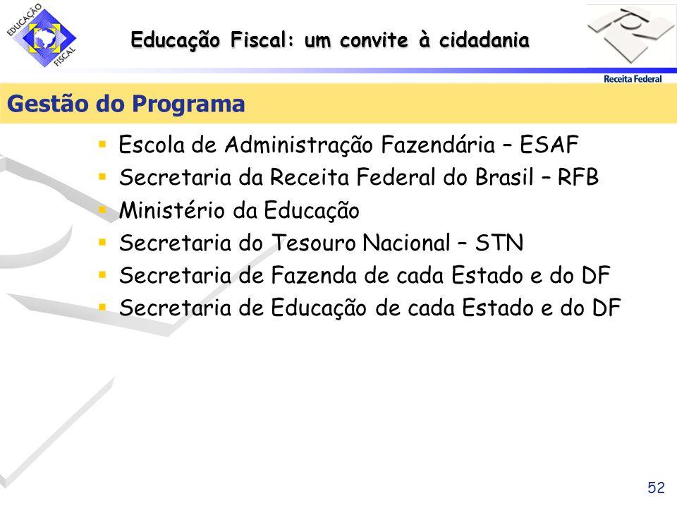 Gestão do Programa Escola de Administração Fazendária – ESAF