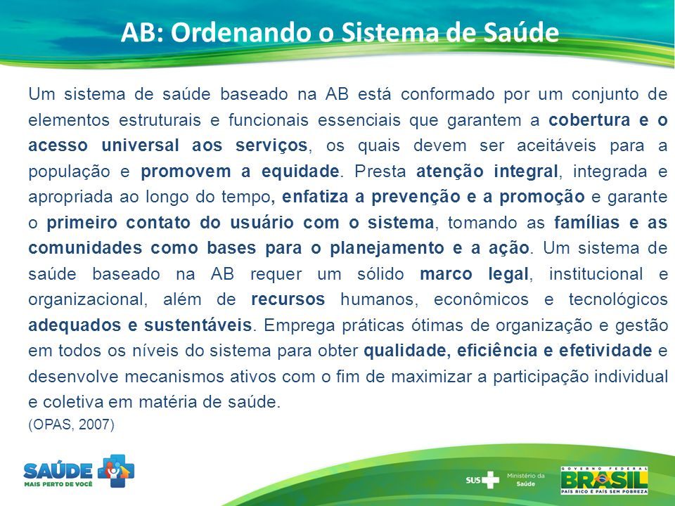 AB: Ordenando o Sistema de Saúde