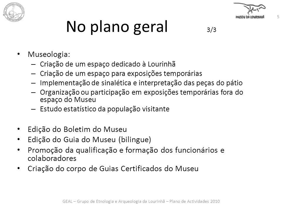 No plano geral 3/3 Museologia: Edição do Boletim do Museu