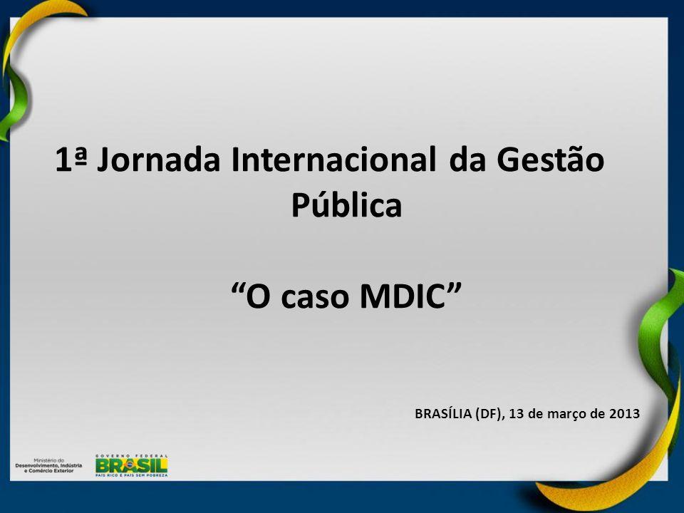 1ª Jornada Internacional da Gestão Pública O caso MDIC