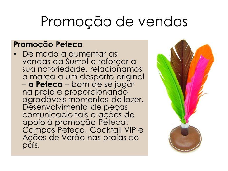 Promoção de vendas Promoção Peteca