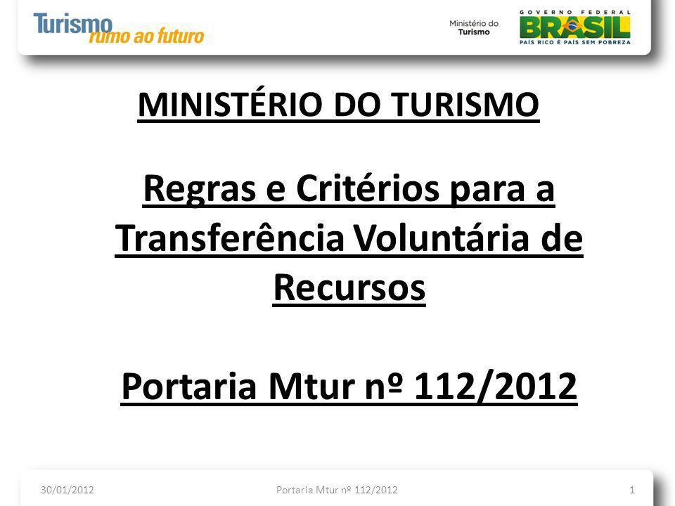 Regras e Critérios para a Transferência Voluntária de Recursos
