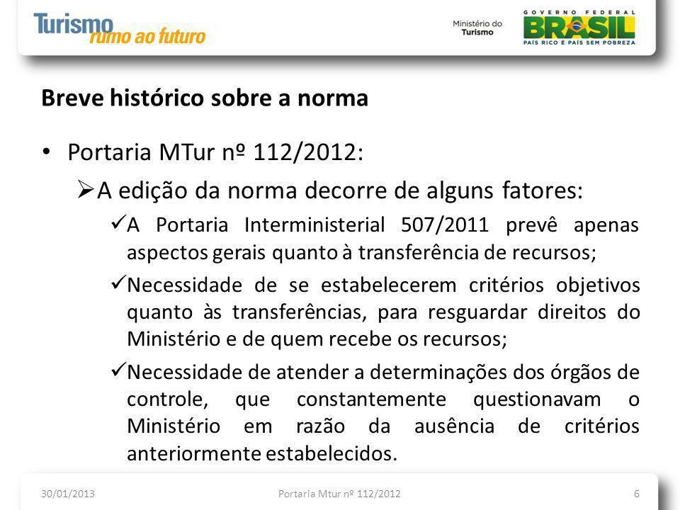 Breve histórico sobre a norma