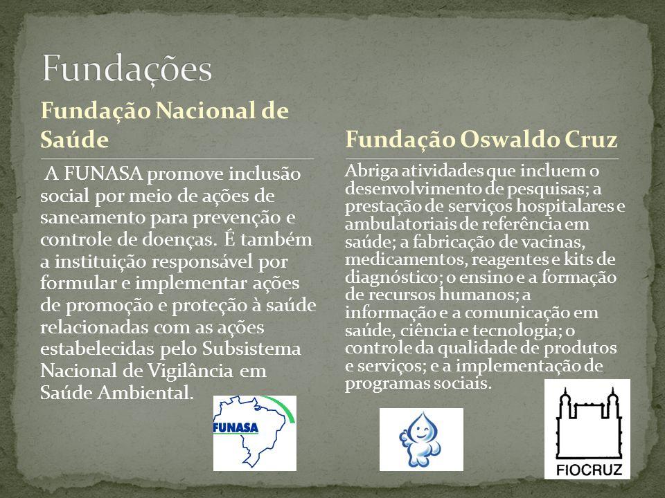 Fundações Fundação Nacional de Saúde Fundação Oswaldo Cruz