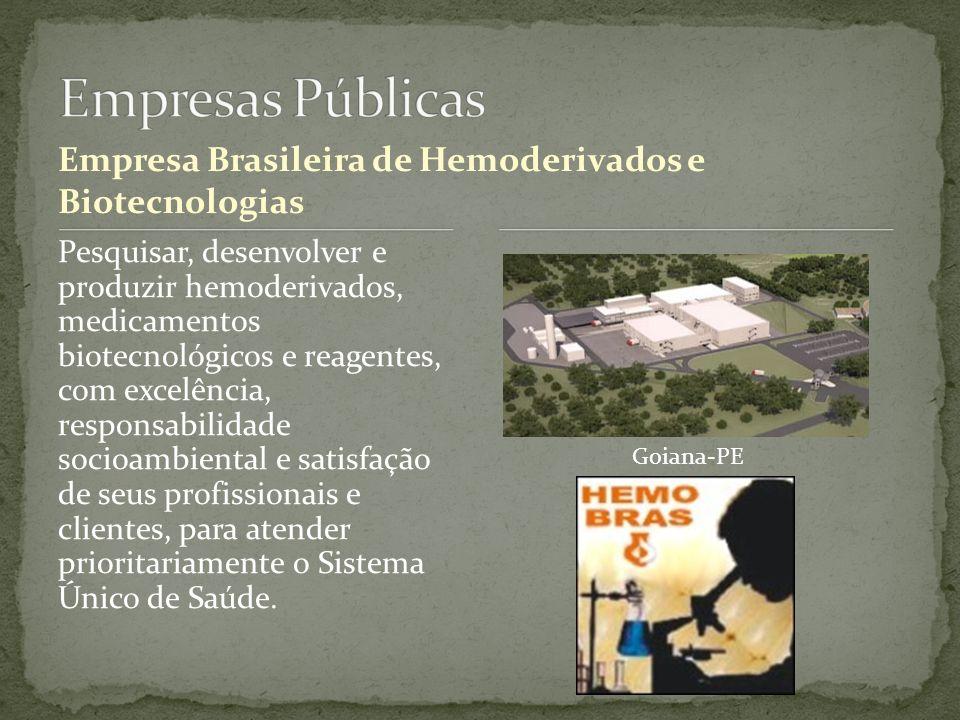 Empresas Públicas Empresa Brasileira de Hemoderivados e Biotecnologias