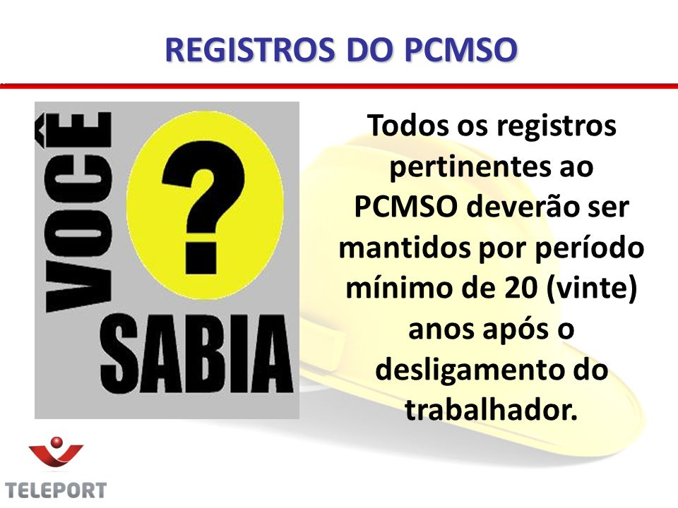 REGISTROS DO PCMSO