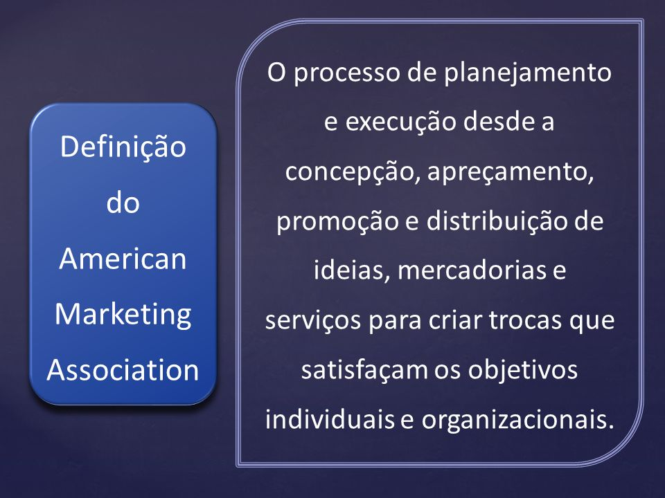 Definição do American Marketing Association