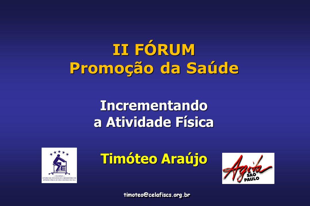 II FÓRUM Promoção da Saúde