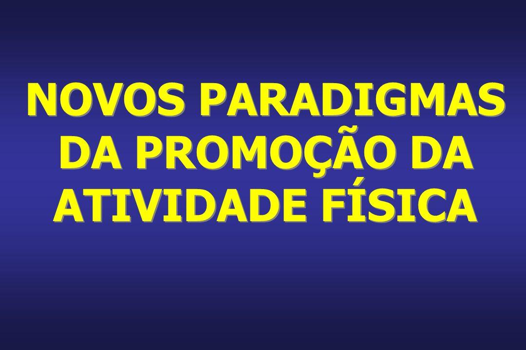 NOVOS PARADIGMAS DA PROMOÇÃO DA ATIVIDADE FÍSICA