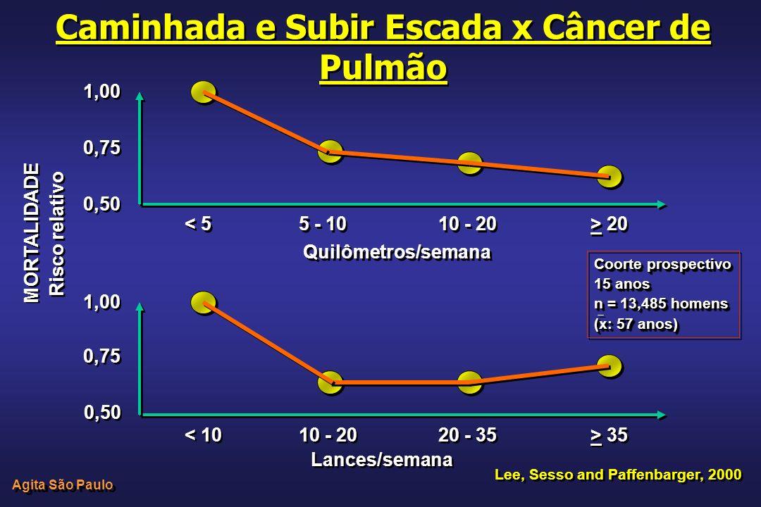 Caminhada e Subir Escada x Câncer de Pulmão