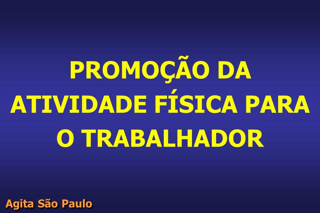 PROMOÇÃO DA ATIVIDADE FÍSICA PARA O TRABALHADOR