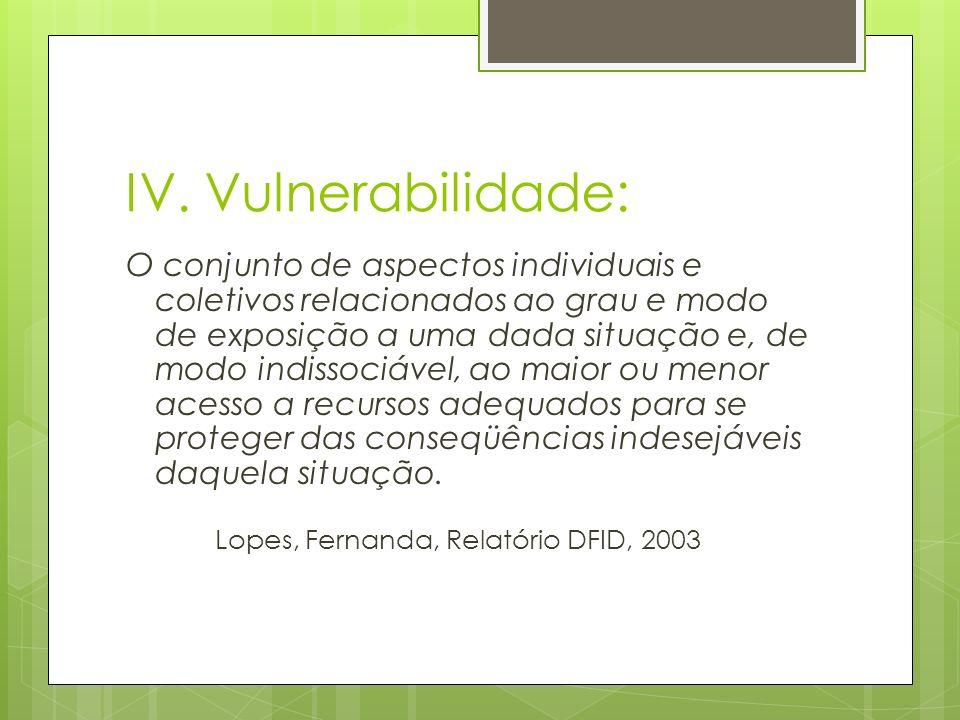 IV. Vulnerabilidade: