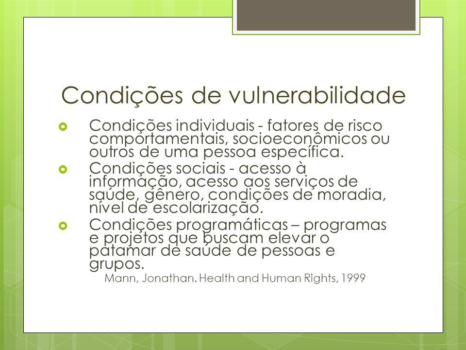 Condições de vulnerabilidade