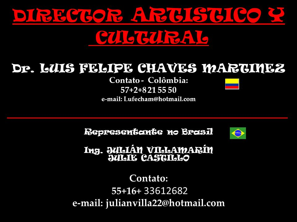 e-mail: Lufecham@hotmail.com e-mail: julianvilla22@hotmail.com