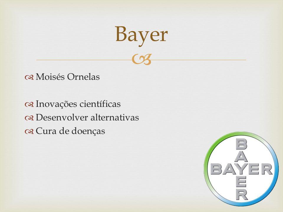 Bayer Moisés Ornelas Inovações científicas Desenvolver alternativas