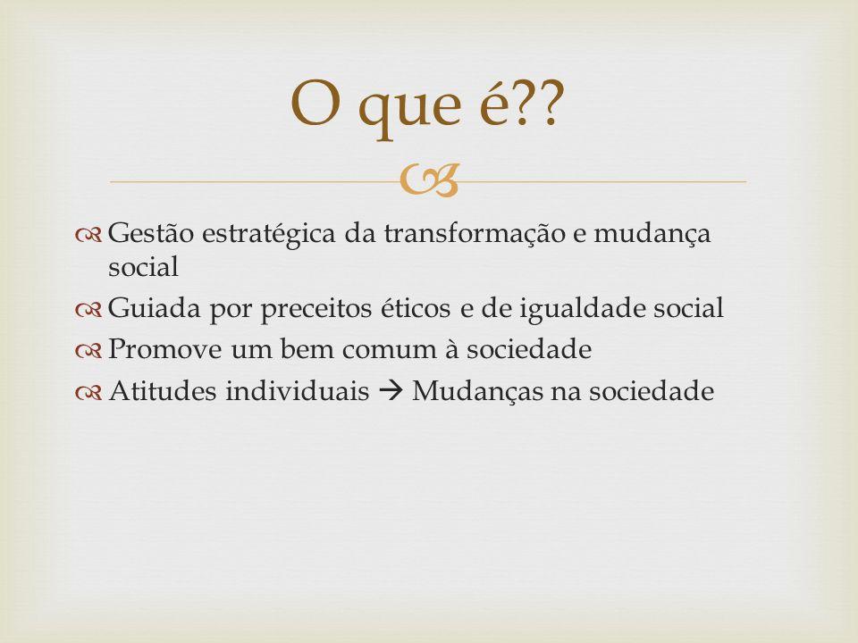 O que é Gestão estratégica da transformação e mudança social