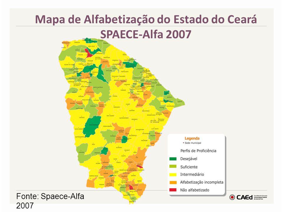 Mapa de Alfabetização do Estado do Ceará SPAECE-Alfa 2007