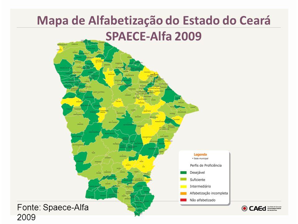Mapa de Alfabetização do Estado do Ceará SPAECE-Alfa 2009