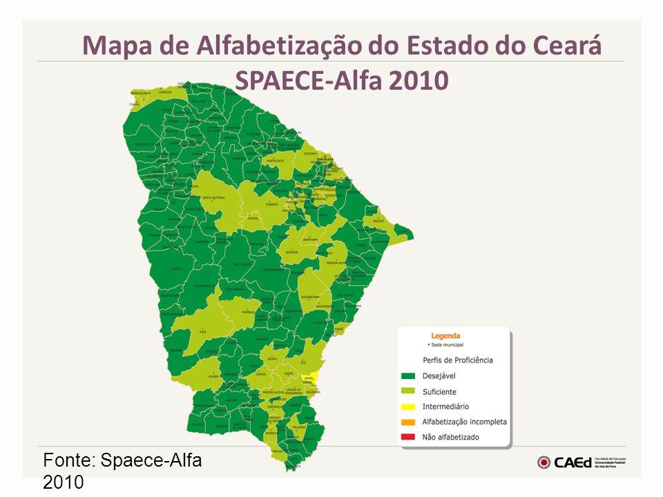 Mapa de Alfabetização do Estado do Ceará SPAECE-Alfa 2010