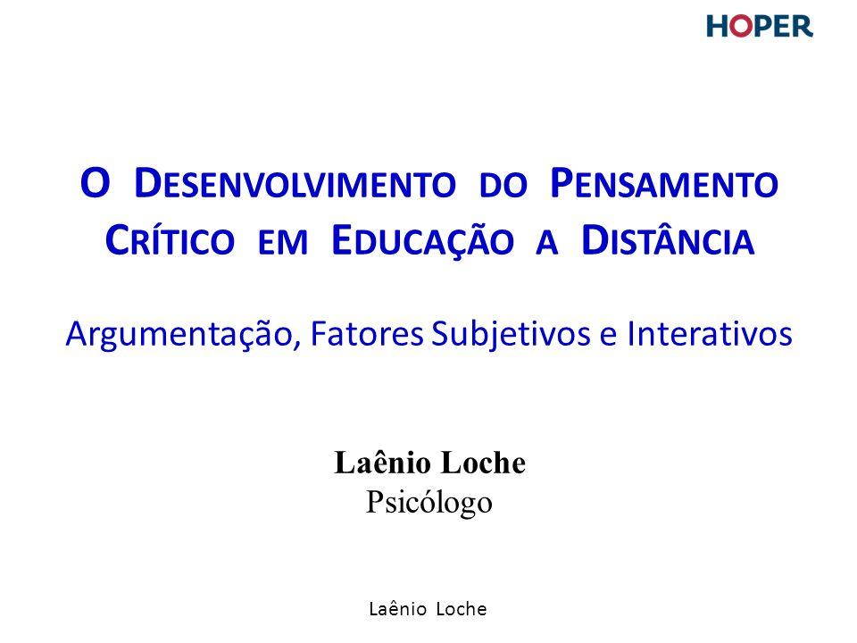 O Desenvolvimento do Pensamento Crítico em Educação a Distância