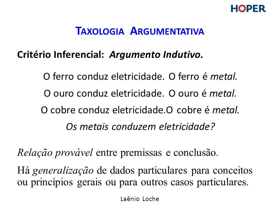 Taxologia Argumentativa