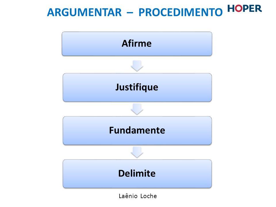 argumentar – Procedimento