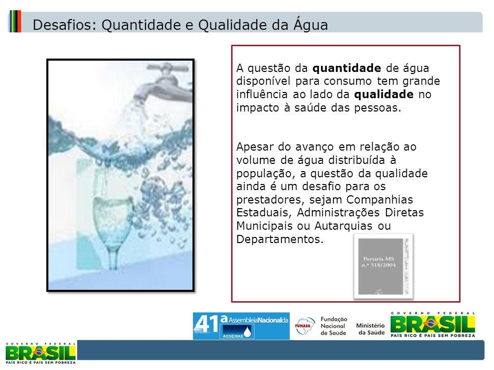 Desafios: Quantidade e Qualidade da Água