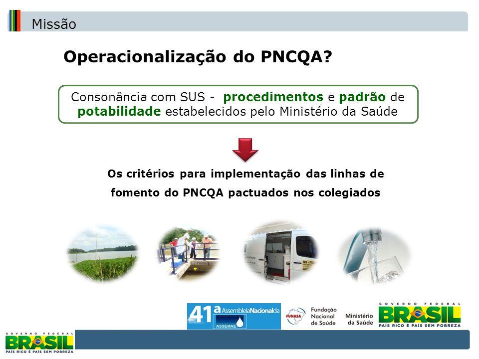 Operacionalização do PNCQA
