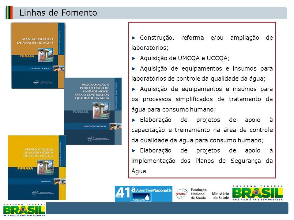 Construção, reforma e/ou ampliação de laboratórios;
