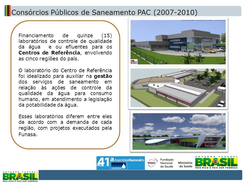 Consórcios Públicos de Saneamento PAC (2007-2010)