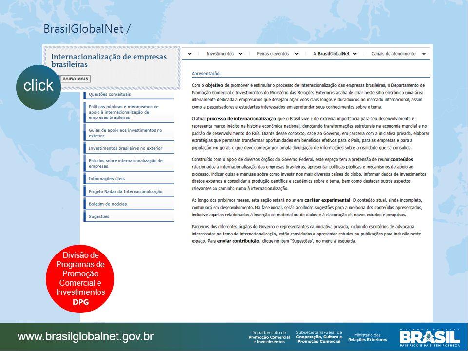 click BrasilGlobalNet / www.brasilglobalnet.gov.br